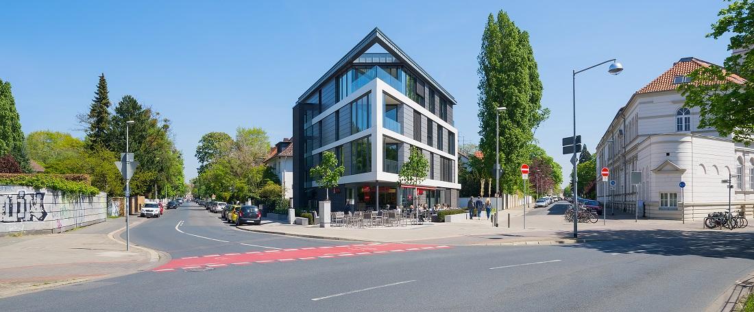 Straßenansicht Neubau Hannover, Fotograf: Clemens Born, Hannover