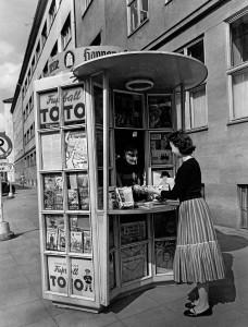 Zeitungsverkaufsstand