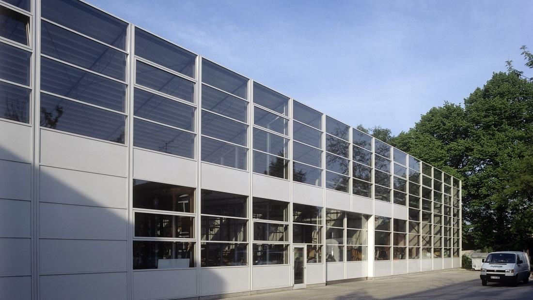 Fassade Metallbau Werkstatt